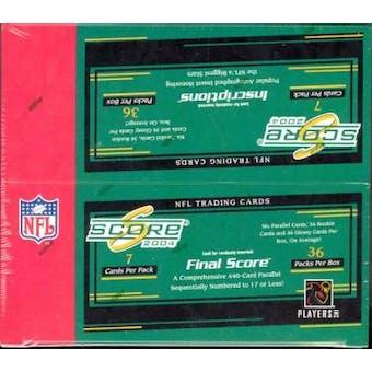 2004 Score Football 36 Pack Box