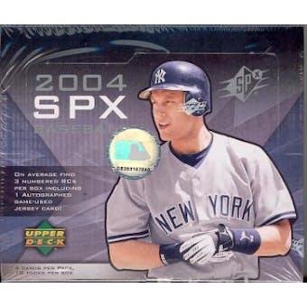 2004 Upper Deck SPx Baseball Hobby Box