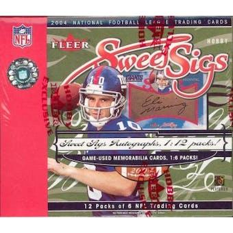 2004 Fleer Sweet Sigs Football Hobby Box