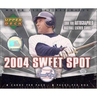 2004 Upper Deck Sweet Spot Baseball 8 Pack Hobby Box