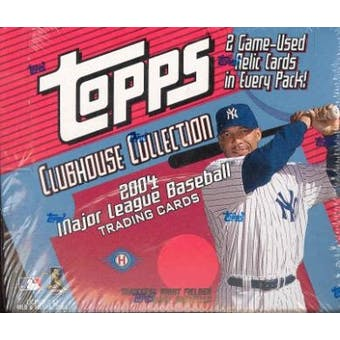 2004 Topps Clubhouse Collection Baseball Hobby Box