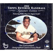 2004 Topps Retired Signature Edition Baseball Hobby Box