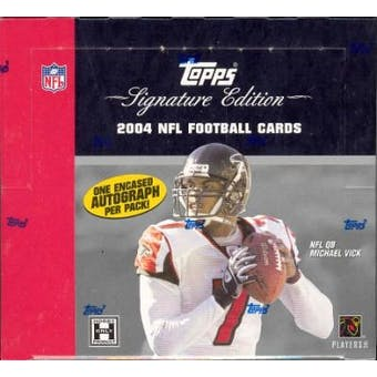 2004 Topps Signature Football Hobby Box