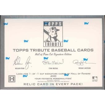 2004 Topps Tribute Hall of Fame Cut Signature Ed. Baseball Hobby Box