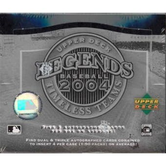 2004 Upper Deck Legends Baseball: Timeless Teams Hobby Box