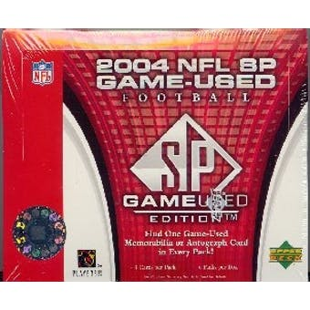 2004 Upper Deck SP Game Used Football Hobby Box