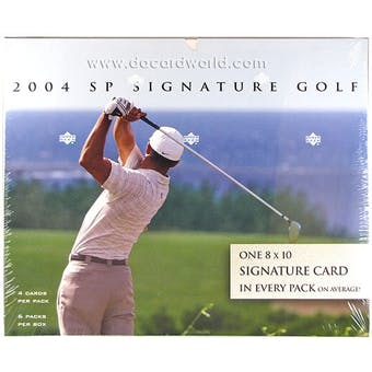 2004 Upper Deck SP Signature Golf Hobby Box