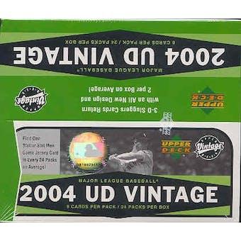 2004 Upper Deck Vintage Baseball 24 Pack Box