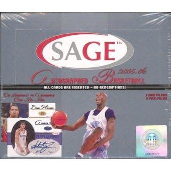 2005/06 Sage Autographed Basketball Hobby Box