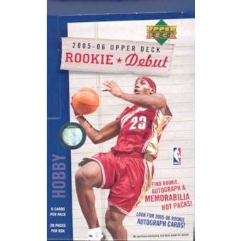 2005/06 Upper Deck Rookie Debut Basketball Hobby Box