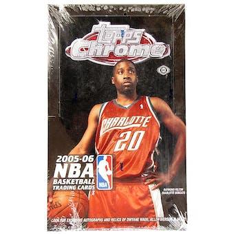 2005/06 Topps Chrome Basketball Hobby Box