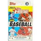 2015 Topps Heritage Baseball Hanger Box