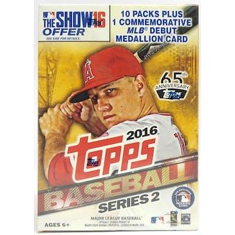2016 Topps Series 2 Baseball 10-Pack Blaster Box