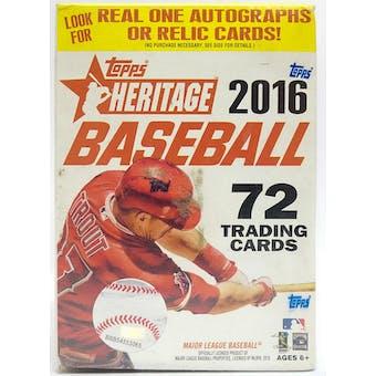 2016 Topps Heritage Baseball 8-Pack Blaster Box
