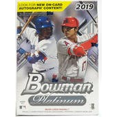 2019 Bowman Platinum Baseball Blaster Box