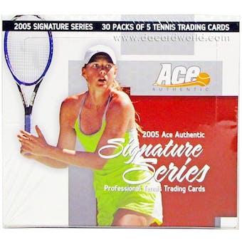2005 ACE Signature Series Tennis Hobby Box