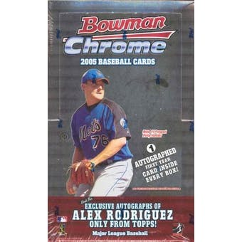 2005 Bowman Chrome Baseball Hobby Box