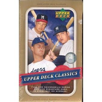 2005 Upper Deck Classics Baseball Hobby Box