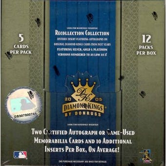 2005 Donruss Diamond Kings Baseball Hobby Box