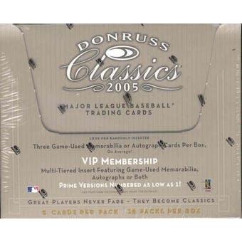2005 Donruss Classics Baseball Hobby Box