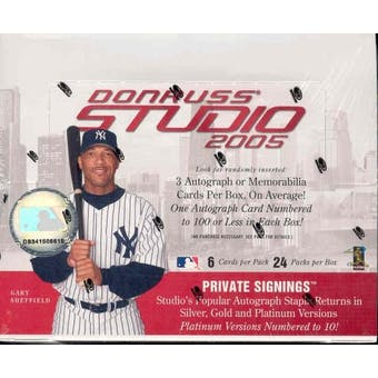 2005 Donruss Studio Baseball Hobby Box