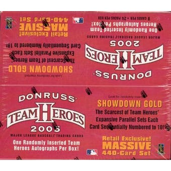 2005 Donruss Team Heroes Baseball 24-Pack Box
