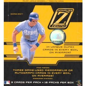 2005 Donruss Zenith Baseball Hobby Box