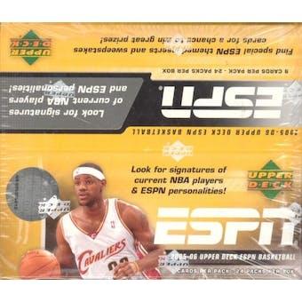 2005/06 Upper Deck ESPN Basketball Hobby Box