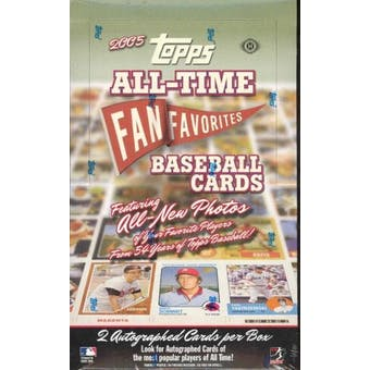 2005 Topps All Time Fan Favorites Baseball Hobby Box