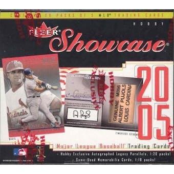 2005 Fleer Showcase Baseball Hobby Box