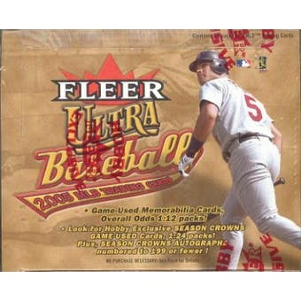 2005 Fleer Ultra Baseball Hobby Box