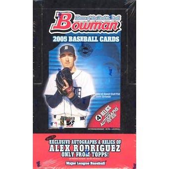 2005 Bowman Baseball Jumbo Box