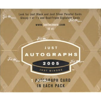 2005 Just Minors Just Autographs Baseball Hobby Box