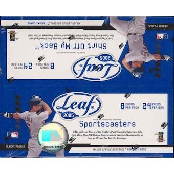 2005 Leaf Baseball 24 Pack Box