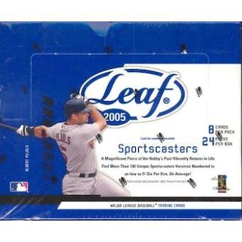 2005 Leaf Baseball Hobby Box