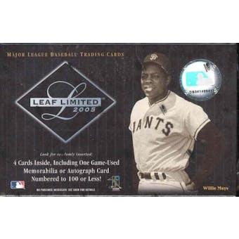 2005 Leaf Limited Baseball Hobby Box