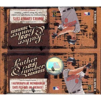 2005 Donruss Leather & Lumber Baseball 24 Pack Box