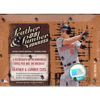 2005 Donruss Leather & Lumber Baseball Hobby Box