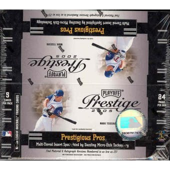 2005 Playoff Prestige Baseball 24 Pack Box