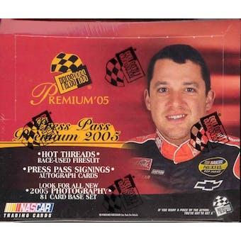 2005 Press Pass Premium Racing Hobby Box