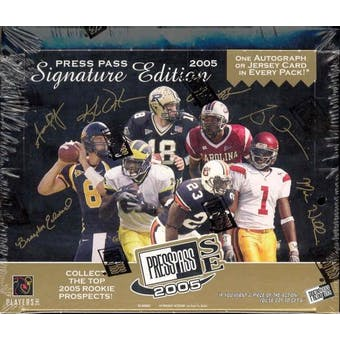 2005 Press Pass Signature Edition Football Hobby Box