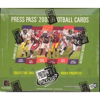2005 Press Pass Football Hobby Box