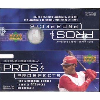 2005 Upper Deck Pros & Prospects Baseball Box