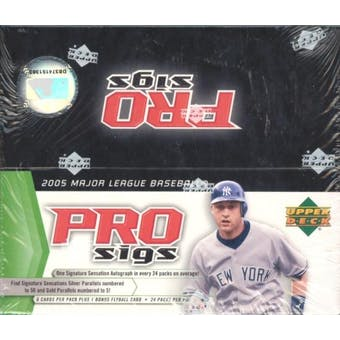 2005 Upper Deck Pro Sigs Baseball Box