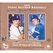 2005 Topps Retired Signature Edition Baseball Hobby Box