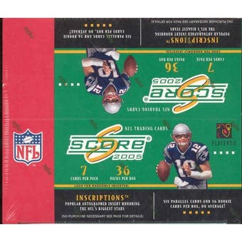 2005 Score Football 36 Pack Box