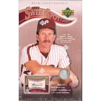 2005 Upper Deck Sweet Spot Classic Baseball Hobby Box