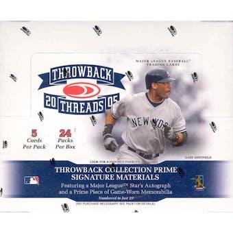 2005 Donruss Throwback Threads Baseball Hobby Box
