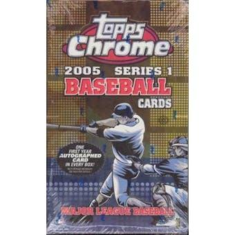 2005 Topps Chrome Series 1 Baseball Hobby Box