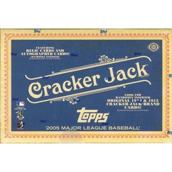 2005 Topps Cracker Jack Baseball Hobby Box